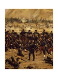 Battle of Miraflores, Peruvian Soldiers Defending Lima from Advance of Chilean Army Giclee Print by Juan Manuel Blanes