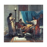 Virgil Reading Aeneid to Augustus, Octavia, and Livia Giclee Print by Jean Auguste Dominique Ingres