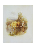 The Young Cowherd Giclee Print by Myles Birket Foster