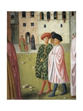 People in Traditional Florentine Dress, Detail from Raising of Tabitha Giclee Print by Masolino Da Panicale