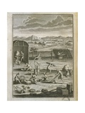 Canada, History of Exploration, Daily Life in Tribe from Manners of American Savages Giclee Print by Jost Amman