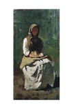 Peasant Woman at Montemurlo, 1862 Giclee Print by Vincenzo Cabianca