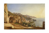 View of Amalfi from the Cave of the Capuchins Giclee Print by Giacinto Gigante