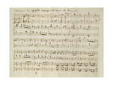Ouverture from the Score of 'Spring', from the Oratorio 'The Seasons', First Performed April, 1801 Giclee Print by Joseph Mallord William Turner