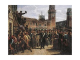 Daniele Manin Demands Austrian Surrender of the Venetian Arsenal, 1848 Giclee Print by Vincenzo Maria Coronelli
