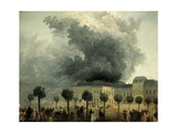Fire at Palais Royal Opera, France, 1781 Giclee Print by Ignazio Danti