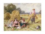 The Cornfield Giclee Print by Myles Birket Foster