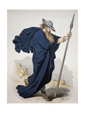 Costume for Wotan, Character from the Rhine Gold by Richard Wagner, 1876 Giclee Print by Carl Johann Arnold