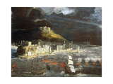 View of Naples from the Sea Giclee Print by Francois Gerard