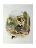 Morning News Giclee Print by Myles Birket Foster