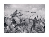 A Roman Battle with the Volscians Giclee Print by John James Chalon