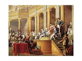 Council of the Cisalpine Republic Giving the Presidency to Bonaparte on January 26, 1802 Giclee Print by Nicolo Bambini
