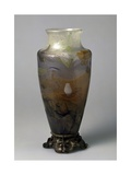 Vase with Etched Decoration on Bronze Base Giclee Print by Emile Lenoble