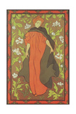 A Woman in Red Giclee Print by Paul Sandby