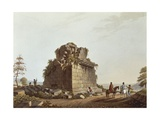 Base of Monumental Column, Sicily from Views of Italy, 1803 Giclee Print by Luigi Mayer