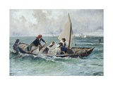 Crossing the Lagoon Giclee Print by Mose Bianchi