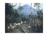 Construction of Chiguacan Railway, 1907 Giclee Print by  Guercino