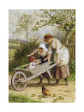 The Wheelbarrow Giclee Print by Myles Birket Foster