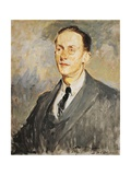 Portrait of Jean Giraudoux, 1924 Giclee Print by Jacques-emile Blanche