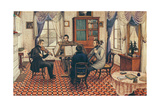 Anthony and Three Friends Playing a String Quartet Giclee Print by Masolino Da Panicale