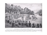 Ambassadors of the Alumanni before Aurelian 270 AD Giclee Print by Odoardo Borrani