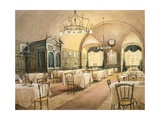 Interior of Restaurant in Vienna, 1911 Giclee Print by Karen Armitage