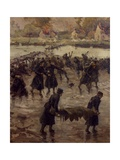 Fighting Along the Yser, October 1914 Giclee Print by Nicholas Pocock