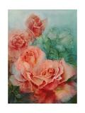 Pink Roses, Prima Ballerina Giclee Print by Karen Armitage