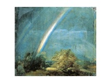 Landscape with a Double Rainbow, 1812 Giclee Print by John Constable