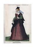 Sienese Noblewoman, from Habitus Praecipuorum Popularum, 1577 Giclee Print by Jozsef Borsos