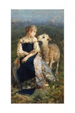 Shepherdess or Girl with a Goat Giclee Print by Francesco Paolo Michetti