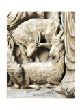 Italy, Tuscany, Siena Cathedral, Pulpit with the Nativity Scene, 1265-1269, Detail Giclee Print by Nicola Pisano