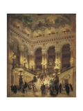 The Staircase at Paris Opera, 1877 Giclee Print by Louis Bosworth Hurt