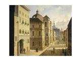 Austria, Salzburg, Priestergasse, 1828 Giclee Print by Johann Velten