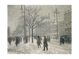 Vesterbro Passage in Copenhagen in Winter, 1919 Giclee Print by Paul Fischer