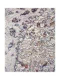 Norway and Sweden, from Marine Charts, Plate, 1539 Giclée-trykk av Olga Vladimirovna Rozanova