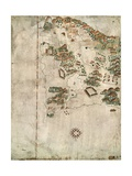 Map of Rio De Janeiro, 16th Century Giclee Print by Jacques-emile Blanche