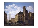 Place Vendome in Paris Giclee Print by Etienne Jeaurat