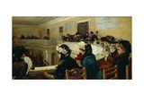 In the Assizes Court, 1882 Giclee Print by Francesco Paolo Michetti