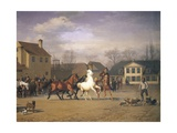 Cattle Market Along the Vesterbrogade in Copenhagen, 1858 Giclee Print by Carl Donner