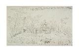Cottage at East Bergholt Giclee Print by John De Critz The Elder