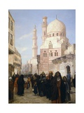 A View of a Street of the Citadel in Cairo with Ibrahim Agka Mosque, 1907 Giclee Print by George Alfred Williams