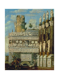 Fantastical Architecture with St. George and the Dragon, 1622 Giclee Print by Francois Dubois