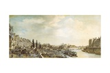 France, Paris, Port Saint-Paul, 1782 Giclee Print by Nicolas Gosse