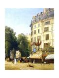 France, Paris, Boulevard Des Capucines at Corner of Rue De La Paix, 1823 Giclee Print by Constant-emile Troyon
