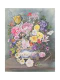 Flowers in a Sevres Jardiniere Giclee Print by John Harris Valda