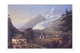 Chamoix in the Days of the Conquest of Mont Blanc Giclee Print by Johann Velten