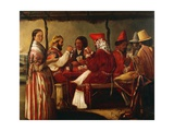 Soldiers of Rosas Army, 1852 Giclee Print by Juan de la Cosa