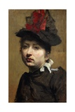 Portrait of Woman with Hat Giclee Print by Luigi Mayer
