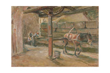 Interior of a Flour Mill in Florence Giclee Print by Maximilien Luce